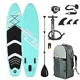 FBSPORT Sup Hinchable, 15cm de Espesor Tabla de Surf Sup Paddleboard, Tabla Inflable de Paddle Surf, Set de Sup con Tabla y...