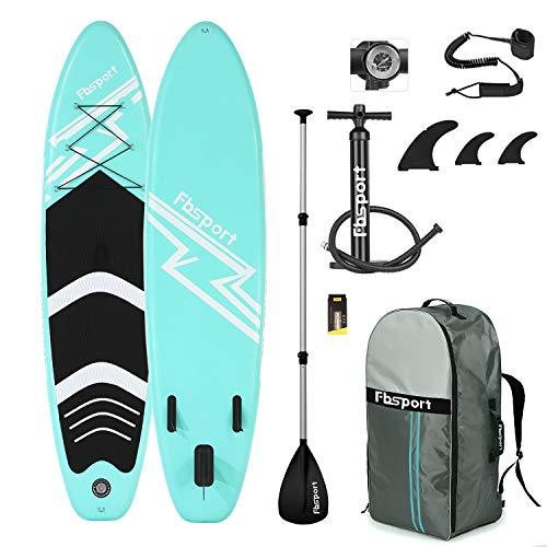✿ Detalles del Tablas hinchables de paddle surf: 1. El set completo incluye todo lo que necesitas para una gran experiencia sobre la tabla. FBSPORT Hinchable SUP es la mejor opción para los principiantes del SUP.  2.Una fantástica versatilidad y una ...