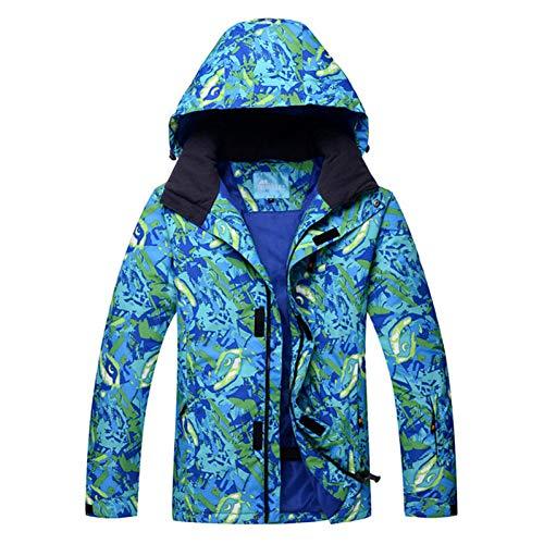 HXFNX Traje De Esquí para Hombre Chaquetas De Esquí Al Aire Libre A Prueba De Viento Súper Cálido Snowboard Chaqueta De Nieve Ropa De Gran Tamaño Chaqueta Cálida Femenina,Lty