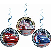 Disney Unique Party Hanging Neon Cars Party Decorations, Pack of 3