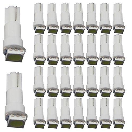 EverBright 30 T5 blanco 1-SMD 5050 LED automotriz auto luces bombilla paneles calibre indicador focos encendido pieza luces para todo tipo de cuña T5 1SMD 17 18 27 37 58 70 73 74 79 85 86 2721