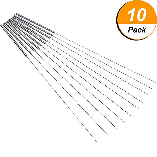 Price comparison product image 10 Pack 0.4 mm Drill Bits for 3D Printer Nozzle Cleaning Kit Stainless Steel Nozzle Cleaning Tool Kit
