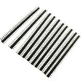 Sourcingmap® 10 Stück 1x40 Pin 2,0 mm Rastermaß Einreihige Leiterplatten Stiftleisten de