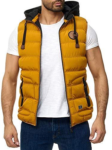Blackrock Herren Outdoor-Weste - Slim-Fit - Abnehmbare Kapuze und Stehkragen - Moderne Stepp-Weste - Mustard XL