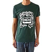 Camiseta de hombre Casete - Color Verde botella Heather - Talla XL - Regalo para hombre - Cumpleanos o San Valentin