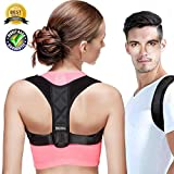 Reazeal Posture Corrector for Men&Women Best-Adjustable Shoulder&Back Brace Support Improve Upper Back Shoulder