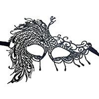 BIGBOBA Women Halloween Masquerade Mask Lace Half Face Mask for Venetian Party Wedding Props Fancy Dress Ball Party Costume Accessory