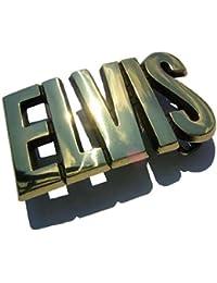 Buckle als goldener ELVIS-Schriftzug, The King - Gürtelschnalle