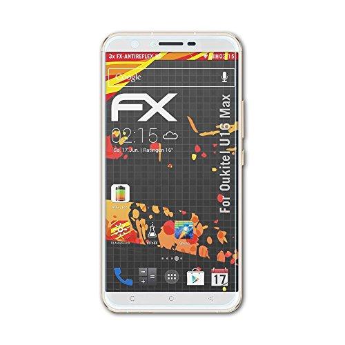 atFolix Schutzfolie kompatibel mit Oukitel U16 Max Bildschirmschutzfolie, HD-Entspiegelung FX Folie (3X)