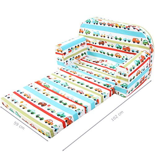 Kindersofa Kindersessel Kindercouch Kindermöbel Klappsessel Bettfunktion Sofa Design 7 NEU - 4