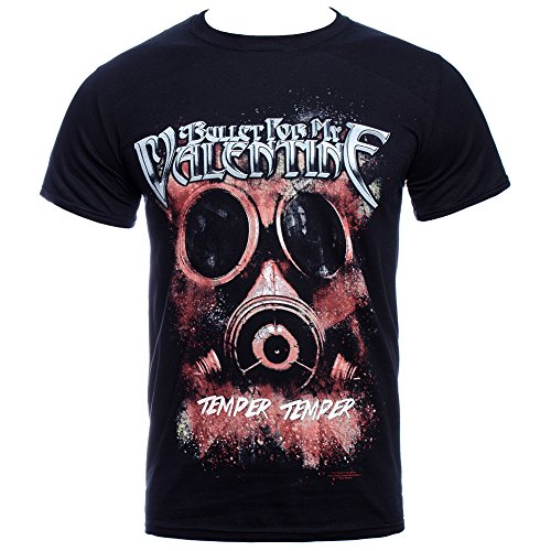 Bullet For My Valentine Temper Temper Gas Mask T Shirt Black