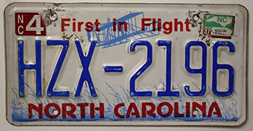 USA Nummernschild NORTH CAROLINA ~ US Kennzeichen LICENSE PLATE ~ Blechschild