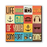 Seven Rays Life begins at the end Fridge Magnet