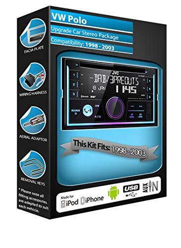 Volkswagen Polo Radio DAB, JVC coche unidad central reproductor de CD USB...