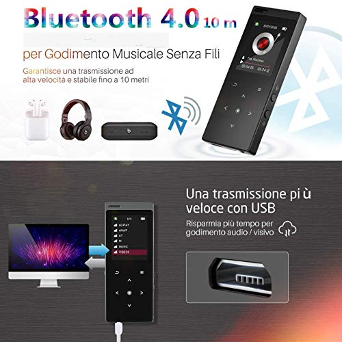 Zoom IMG-1 omorc mp3 lettore bluetooth 1