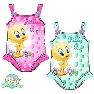 Looney Tunes Baby Tweety Baby Badeanzug (36 Monate, pink)