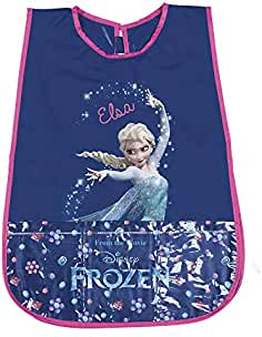 PERLETTI Delantal Infantil de Disney Frozen Elsa - Bata Escolar Impermeable Bolsillo Delantero - Ideal para