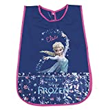 PERLETTI Disney Frozen Kinder Kittel - PVC Schürze Wasserdicht für Mädchen mit Elsa die Eiskönigin - Ideal als Schutz für Kinderkleidung - 3 bis 5 Jahre - Blau und Pink
