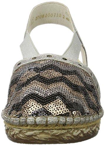 Rieker Damen 68978 Geschlossene Sandalen mit Keilabsatz - 4