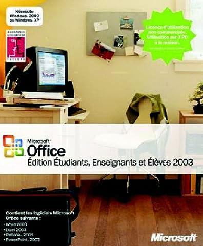Office 2003 Edition Etudiants / Elèves / Enseignants (Word, Excel, Outlook, PowerPoint)