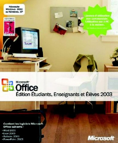 Office 2003 Edition Etudiants / Elèves / Enseignants (Word, Excel, Outlook, PowerPoint)