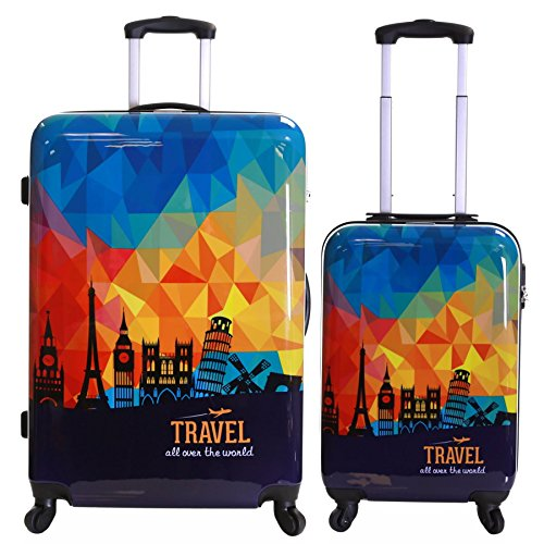 Karabar Falla set di 2 valigie rigide, Cielo Prisma