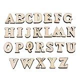 200Stück Holz 0–9Zahlen und A-Z Holz Buchstaben DIY Spielzeug für Kinder Kinder Early Learning, TYPE#1 Letters