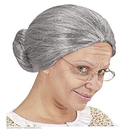 Lively Moments Perücke Oma mit Dutt für Fasching / Omaperücke für Damen / Kostüm Zubehör