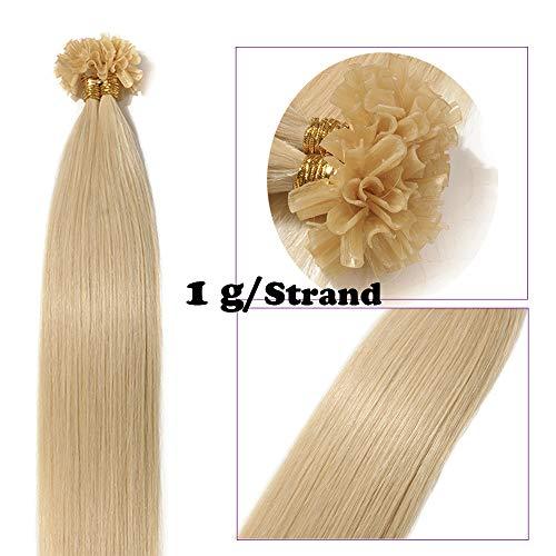 Extension capelli veri cheratina 1 grammo biondi 50 ciocche 50cm 100% remy human hair 50g lisci umani indiani u tip extension con cheratina estensioni lunghi 20