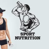 Shentop Gym stickerr Fitness-Drink Bodybuilding Poster Vinyl Wand s Sport Nutrition Decor Wandbild...