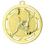 10 Fußball-Medaillen mit Bändern und 3 Fußball-Anstecknadeln (Sticker)