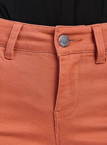 oodji Ultra Damen Stretch-Shorts Rot (3100N)