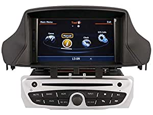AudioCarSystem RENAULT MEGANE 3 FLUENCE (2009-2011) - Installation OEM voiture - écran tactile lecteur DVD radio MP3 USB SD MPE4 MPEG2- navigation GPS 3D - TV iPod USB - Bluetooth mains libres +++ garantie AudioCarSystem+++