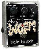electro-harmonix Worm The Worm Vibrato/Tremolo Pedal - Pedal de efecto vibrato para guitarra, color plateado