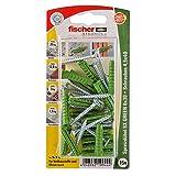 Fischer Spreizdübel SX Green 6x30 S K, 15 x Spanplattenschraube 4,5 x 40, 524820