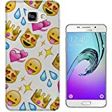 c0396 - Cool Fun Trendy cute kwaii colourful emoji apps emoticons hearts smiley face funny (9) Design Samsung Galaxy A5 -(2016 Modèle) Fashion Trend Protecteur Coque Gel Rubber Silicone protection Case Coque
