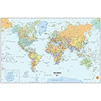 Wallpops Peel and Stick Self Adhesive Dry-Erase World Map