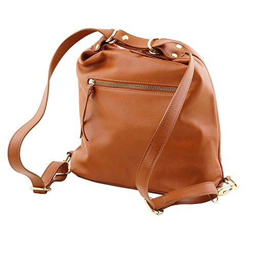 Tuscany Leather TL Bag - Sac en cuir convertible en sac à dos - TL141535 (Rouge) Noir