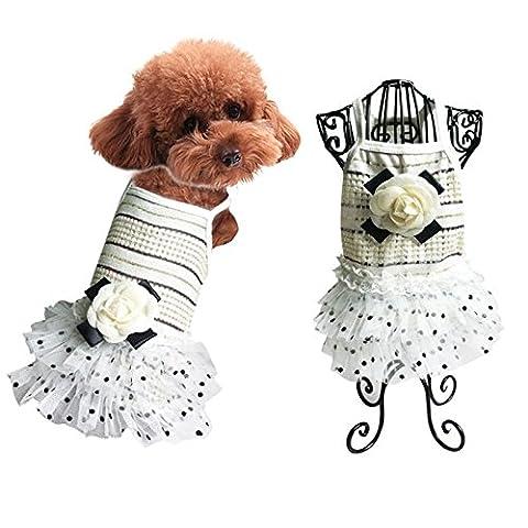 Robe de soirée à carreaux en dentelle pour animal familier Princesse jupe LNAG , l