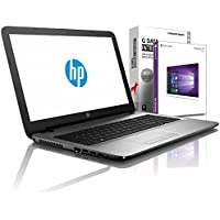 HP (15,6 Zoll) Notebook (AMD E2-9000e 2x2.00 GHz, 4GB DDR4, 500GB S-ATA HDD, DVD±RW, Radeon R2, HDMI, Webcam, Bluetooth, USB 3.0, WLAN, Windows 10 Prof. 64 Bit) #5579