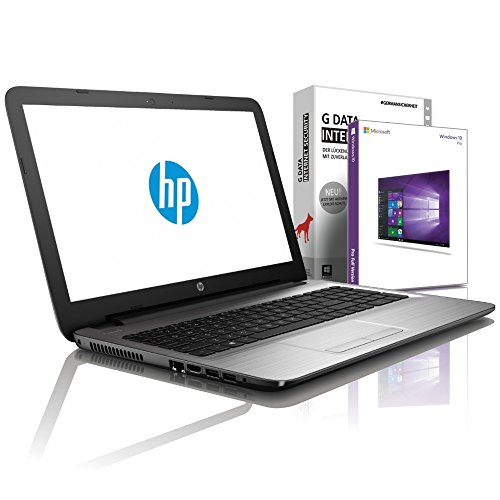 HP 255 G7 (15,6 Zoll HD) Notebook (Intel Core i3-7020U, 8GB DDR4, 512 GB SSD, DVD±R/RW, Intel HD Grafik mit HDMI, Bluetooth, WLAN, USB 3.0, Windows 10 Prof, MS Office 2010) Silber, #6121 -
