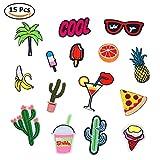 Lavendei Einhorn Patch Sticker, Niedlich DIY Verschiedene Kleidung Patches Aufkleber Patches zum Aufbügeln für T-Shirt Jeans, Kleidung, Taschen, Rucksäcke, Schuhe, Hüte (Style 08)