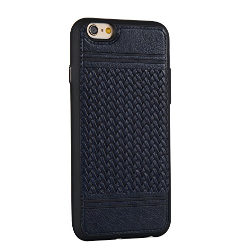 EKINHUI Case Cover Mischfarben Weaving Pattern PU Leder Skin Cover Shell Soft TPU / Silikon Rückseiten Cover Case für iPhone 6 & 6s ( Color : J ) I