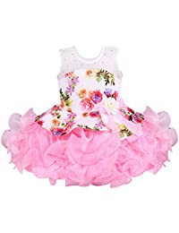 Wish Karo Baby Girls Frock Birthday Dress for Girls - Scuba - (bxa158)