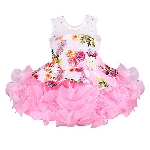 Wish Karo Baby Girls Party wear Frock Dress DN (bxa158bpnk_18-24 Months)