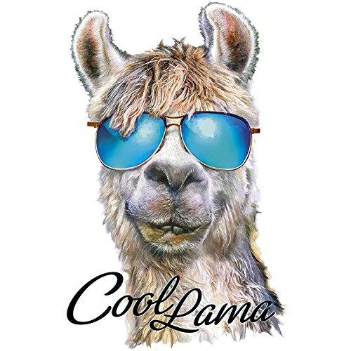 """Color Bügeltransfer """"Cool Lama"""", DIN A4   Textilien wie T-Shirts & Taschen mit Bügelmotiven verzieren   Bilder schnell & einfach aufbügeln   DIY Textildesign"""