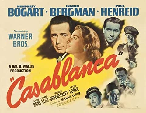 Casablanca Affiche du film Poster Movie Casablanca (27 x 40 In - 69cm x 102cm) Style J