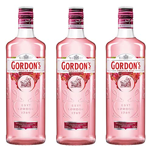 Gordon´s Premium Pink Distilled Gin, 3er, Alkohol, Alkohlgetränk, Getränk, Flasche, 37,5{17f929dbf41b320bb3e980b3d19223938a635c516e092e7b584b9974a3f53f27}, 700 ml, 737864