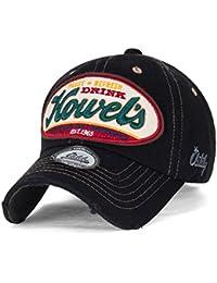 ililily Howel's abgenutztes Aussehen klassischer Stil Solid Farbe Baumwolle Baseball Cap Trucker Cap Hut
