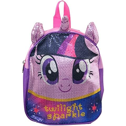 Mini zaino, motivo: My Little Pony Twilight Sparkle, con paillettes,